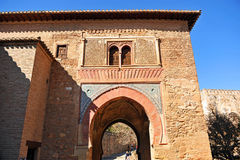 Puerta Del Vino, Alhambra pałac w Granada, Hiszpania zdjęcia royalty free