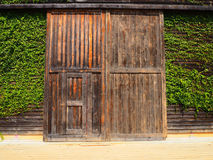 Puerta del wallwood del granero Fotografía de archivo