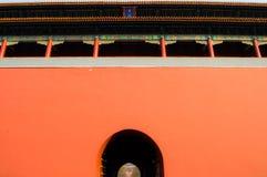 Puerta dentro de la ciudad Prohibida durante el Año Nuevo chino, Pekín, China Imagen de archivo