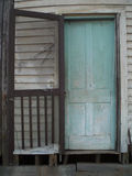 Puerta desgastada vieja Foto de archivo libre de regalías