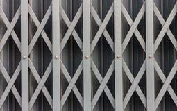 Puerta deslizante de acero Imágenes de archivo libres de regalías