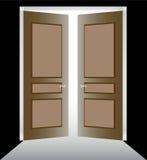 Puerta doble con el moldeado stock de ilustración