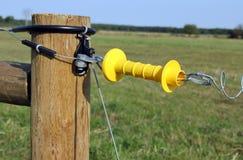 Puerta eléctrica de la cerca Fotografía de archivo