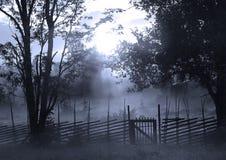 Puerta en crepúsculo Imágenes de archivo libres de regalías