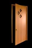 Puerta en dlack Imagen de archivo libre de regalías