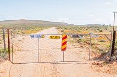 Puerta en el camino a Sarrisam Imágenes de archivo libres de regalías