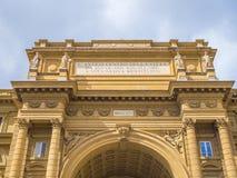 Puerta en el cuadrado del della Repubblica de la plaza de la república en Florencia Fotografía de archivo libre de regalías