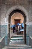 Puerta en el Medina de Fes Fotografía de archivo