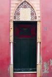 Puerta en el museo rojo de la casa, Capri, Italia fotos de archivo libres de regalías