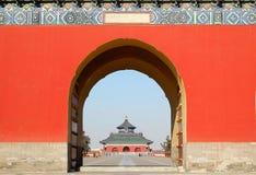 Puerta en el templo del cielo Imagenes de archivo