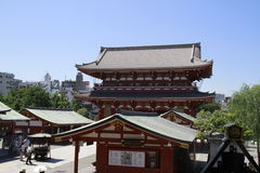 Puerta en el templo en Asakusa, Tokio, Japón de Senso-ji Imagen de archivo