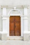 Puerta en iglesia Fotos de archivo libres de regalías