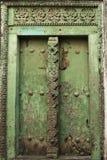Puerta en la ciudad de piedra, Zanzíbar Imagen de archivo libre de regalías