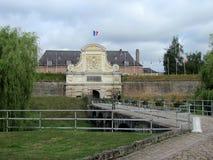 Puerta en la ciudadela vieja de Lille foto de archivo