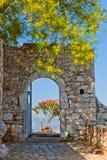 Puerta en la fortaleza de Palamidi Fotos de archivo libres de regalías