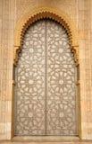 Puerta en la mezquita de Hassan II en Casablanca Fotos de archivo