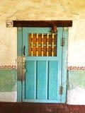 Puerta en la misión San Miguel Arcangel Foto de archivo libre de regalías