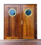 Puerta en la nave fotografía de archivo