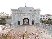 Puerta en las paredes de Treviso Fotografía de archivo libre de regalías