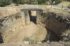 Puerta en Mycenae, Grecia imagen de archivo libre de regalías