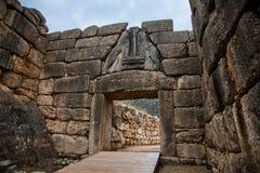 Puerta en Mycene Fotos de archivo libres de regalías
