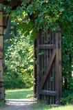 Puerta en verde Foto de archivo