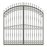Puerta forjada ilustración del vector