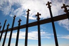 Puerta forjada Fotografía de archivo libre de regalías