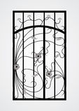 Puerta forjada de la puerta. Imágenes de archivo libres de regalías