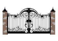 Puerta forjada del hierro fotos de archivo libres de regalías