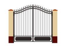 Puerta forjada del hierro ilustración del vector
