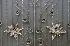 Puerta forjada del metal Fotografía de archivo