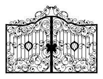 Puerta forjada Detalle de la configuración libre illustration