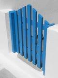 Puerta griega azul Foto de archivo