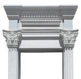 Puerta griega de las columnas Foto de archivo libre de regalías