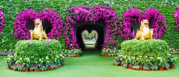 Puerta hermosa de la flor Imagenes de archivo