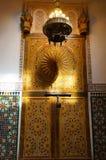 Puerta hermosa de Moulay Ismail Mausoleum en Meknes Imagen de archivo libre de regalías