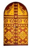 Puerta hermosa del templo del Lao aislada en el fondo blanco Fotografía de archivo libre de regalías
