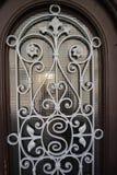 Puerta-hierro-florituras Fotografía de archivo