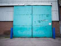Puerta industrial vieja Imagen de archivo libre de regalías