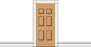 Puerta interior libre illustration