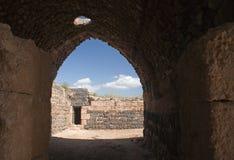 Puerta interna del norte de la fortaleza de Belvoir Imagenes de archivo