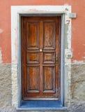 Puerta italiana Fotografía de archivo libre de regalías