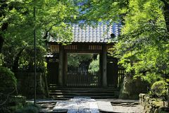 Puerta japonesa del templo Foto de archivo libre de regalías