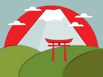 Puerta Japonesa Del Torii En Estilo Plano Ilustraci N Del