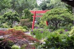 Puerta japonesa tradicional de la entrada Foto de archivo libre de regalías