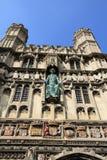 Puerta a la catedral de Cantorbery Imagen de archivo libre de regalías