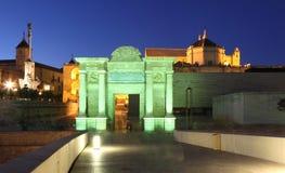 Puerta a la ciudad vieja de Córdoba Imágenes de archivo libres de regalías