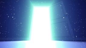 Puerta a la luz ilustración del vector