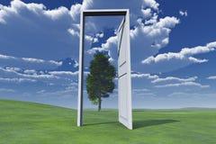 Puerta a la naturaleza libre illustration